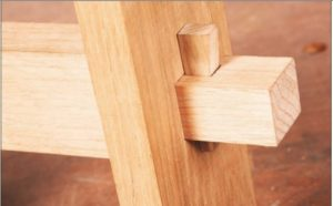Loose-wedged Mortise & Tenon