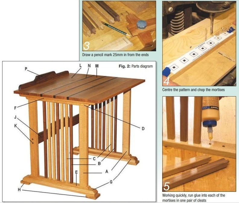 Chop mortise and glue into mortises