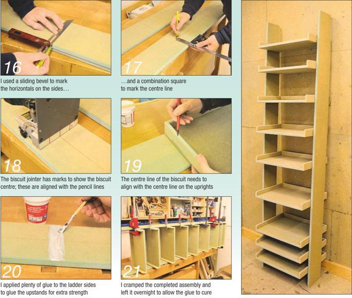 Assembling the Ladder Shelving Unit (Photos)