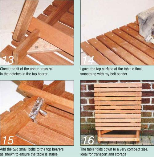 Folding Picnic Table Photo Instruction 13-16