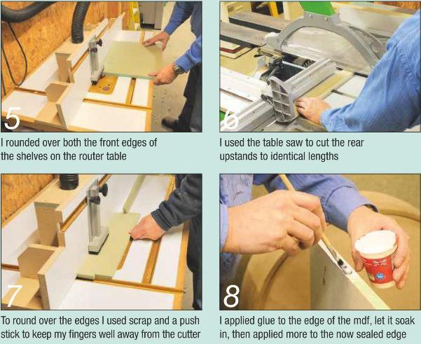 Preparing the shelves for Ladder Photos