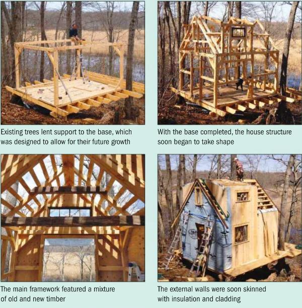 Instructions for making a A Tree House Structure