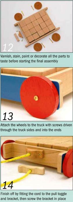 Toy Brick Truck Instruction Photos 12-14