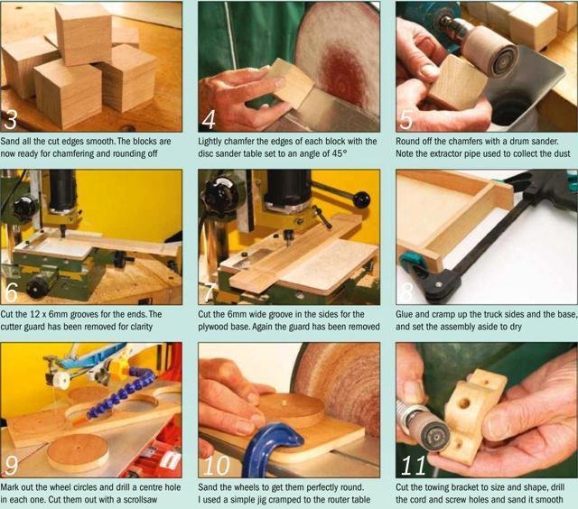Toy Brick Truck Instruction Photos 3-11