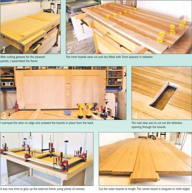 Barn Door Instruction Insulated oak door Photo 1-6