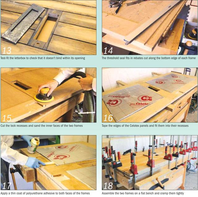 Barn Oak Door Instruction Photo 13-18