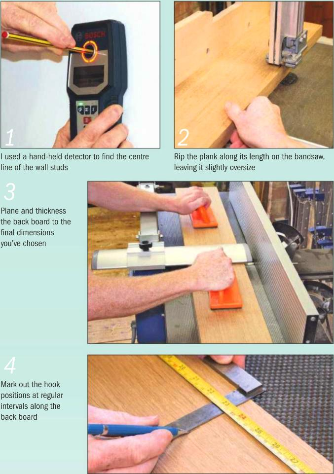 Instructions for making a Coat rack 1-4 photo