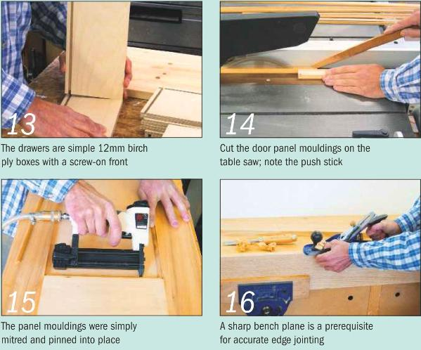 Instructions for making a Painted Dresser - Photo 13-16
