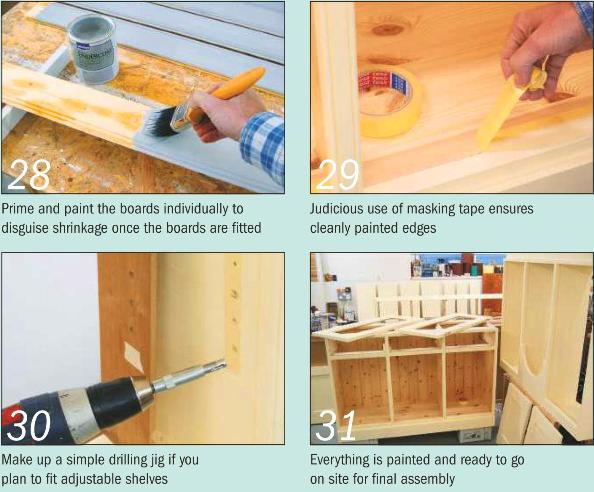 Instructions for making a Painted Dresser - Photo 28-31