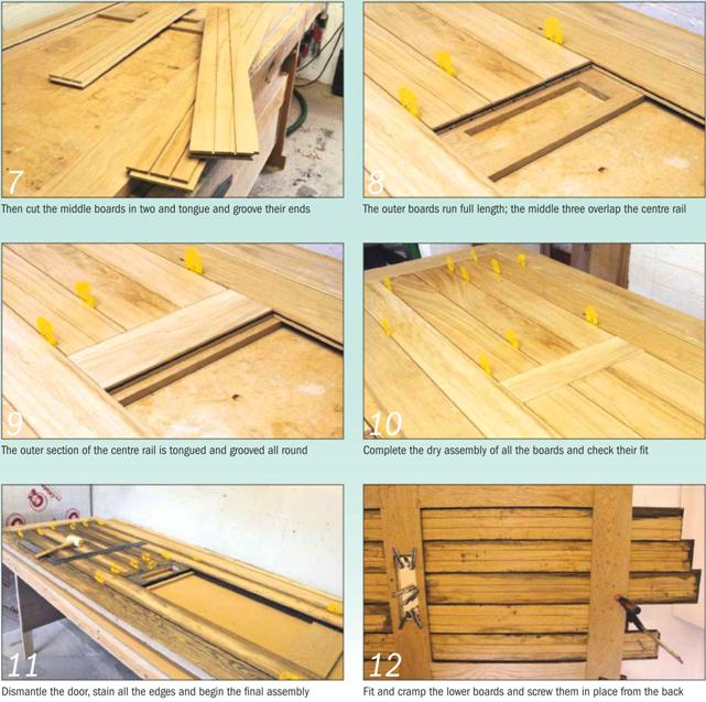Insulated oak door Barn Door Instruction Photo 7-12